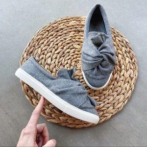 INDIGO SOUL Wool Blend Twist Knot Slip On Sneakers